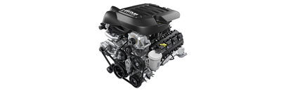 6.4L HEMI® VVT V8 with Best-in-Class gas engine horsepower3 - Available
